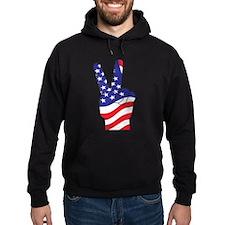Patriotic USA Peace Sign Hoodie