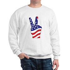 Patriotic USA Peace Sign Sweatshirt