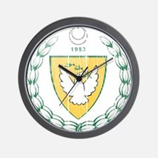 Turkish Northern Cyprus Coat Of Arms Wall Clock