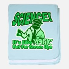 Science vs Magic baby blanket