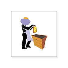 "Beekeeper Square Sticker 3"" x 3"""