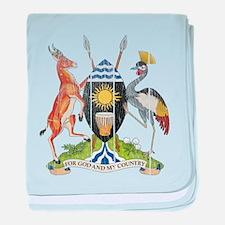 Uganda Coat Of Arms baby blanket