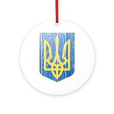 Ukraine Lesser Coat Of Arms Ornament (Round)
