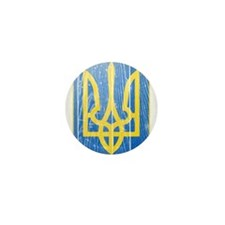 Ukraine Lesser Coat Of Arms Mini Button