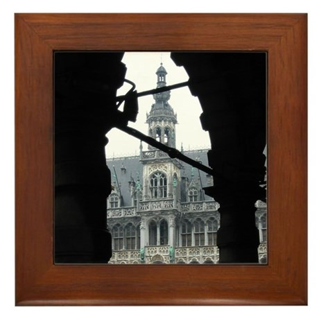 The Central Plaza, Brussels Framed Tile