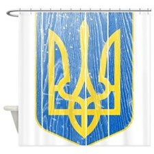 Ukraine Lesser Coat Of Arms Shower Curtain