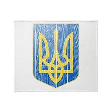 Ukraine Lesser Coat Of Arms Throw Blanket