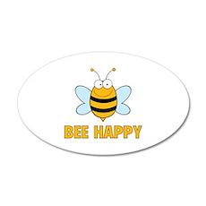 Bee Happy 22x14 Oval Wall Peel