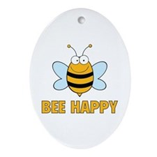 Bee Happy Ornament (Oval)