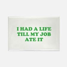 had a life merchandise Rectangle Magnet