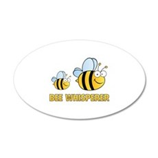Bee Whisperer 22x14 Oval Wall Peel