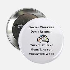Social Work Retirement Button