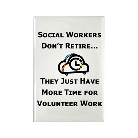 Social Work Retirement Rectangle Magnet (10 pack)