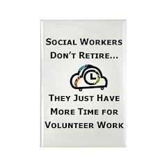 Social Work Retirement Rectangle Magnet