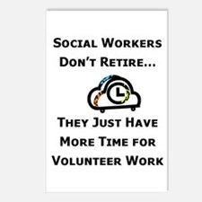 Social Work Retirement Postcards (Package of 8)