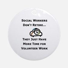 Social Work Retirement Ornament (Round)