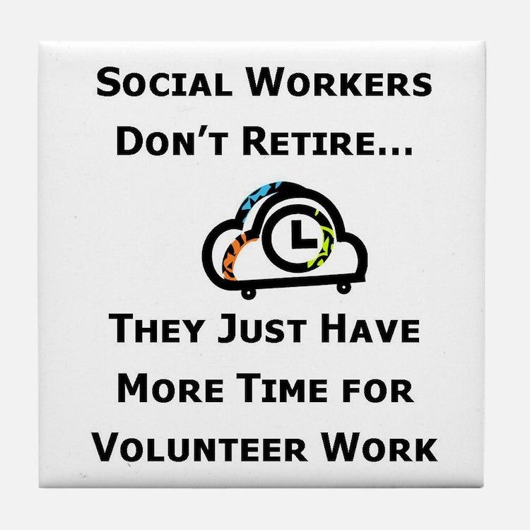 Social Work Retirement Tile Coaster