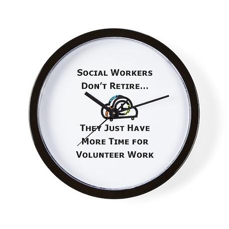 Social Work Retirement Wall Clock