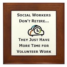 Social Work Retirement Framed Tile