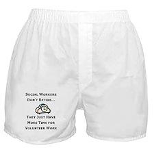 Social Work Retirement Boxer Shorts