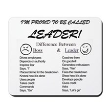Proud to be Leader Mousepad