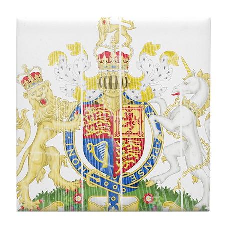 United Kingdom Coat Of Arms Tile Coaster