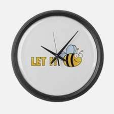 Let It Bee Large Wall Clock