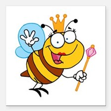 """Queen Bee Square Car Magnet 3"""" x 3"""""""