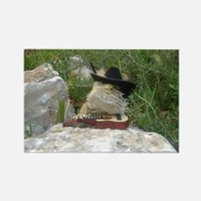 Musician Spiny the Lizard Rectangle Magnet