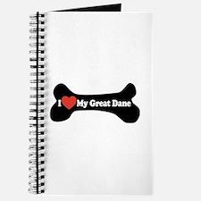 I Love My Great Dane - Dog Bone Journal