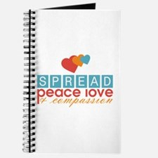 Spread Peace Love and Compassion Journal