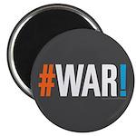 "#WAR! 2.25"" Magnet (100 pack)"