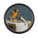 Beautiful Black Headed Grosbeak Large Wall Clock