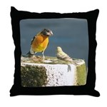 Beautiful Black Headed Grosbeak Throw Pillow