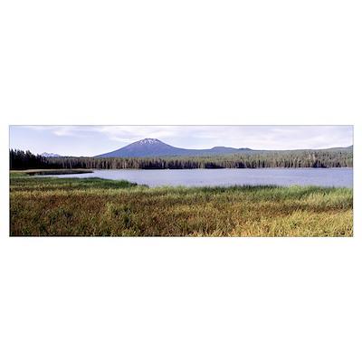 Mt Bachelor Little Lava Lake Deschutes National Fo Poster
