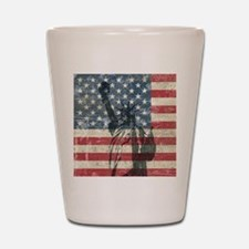 Vintage Statue Of Liberty Shot Glass
