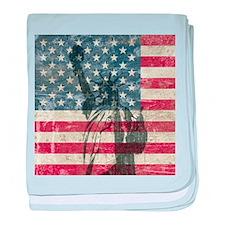 Vintage Statue Of Liberty baby blanket