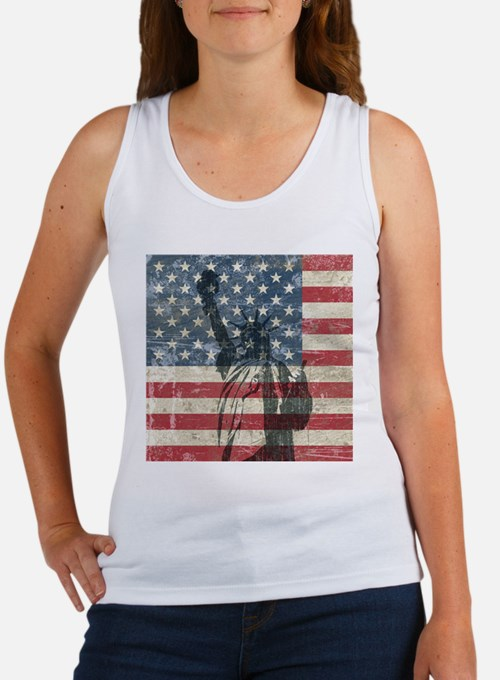 Vintage Statue Of Liberty Women's Tank Top