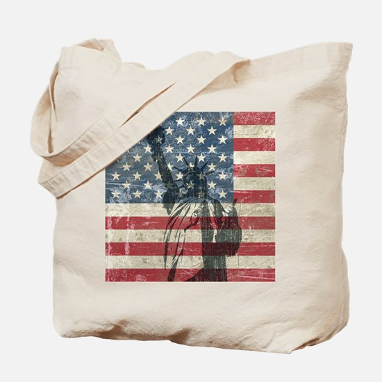 Vintage Statue Of Liberty Tote Bag