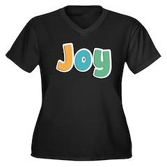 Joy Women's Plus Size V-Neck Dark T-Shirt
