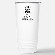 Dachshund - Keep Calm and Hug a Dachshund Stainles