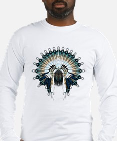 Native War Bonnet 02 Long Sleeve T-Shirt