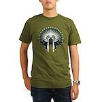Native War Bonnet 02 Organic Men's T-Shirt (dark)