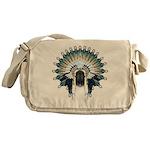 Native War Bonnet 02 Messenger Bag