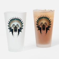 Native War Bonnet 02 Drinking Glass