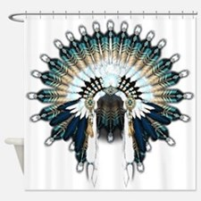 Native War Bonnet 02 Shower Curtain