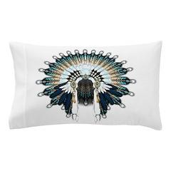 Native War Bonnet 02 Pillow Case