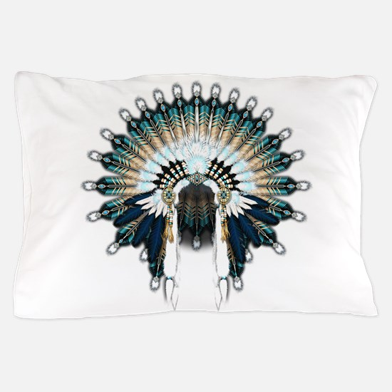 Native War Bonnet 02 Pillow Case