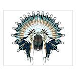Native War Bonnet 02 Small Poster