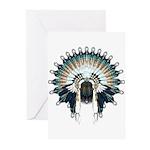 Native War Bonnet 02 Greeting Cards (Pk of 20)